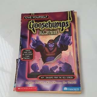 goosebumps series of books by R.L. Stine