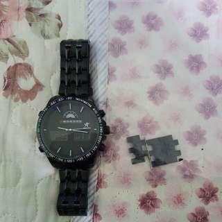AS-VELA watch black