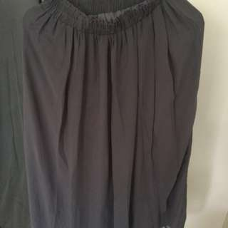 Long skirt grey M fit to L