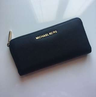 Authentic Michael Kors Black Continental Wallet