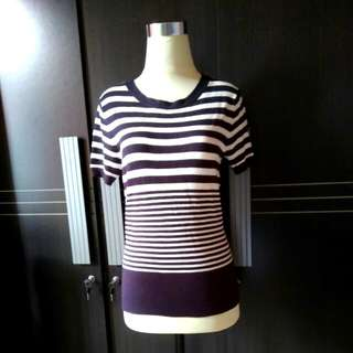 Comfy knitted stripes top