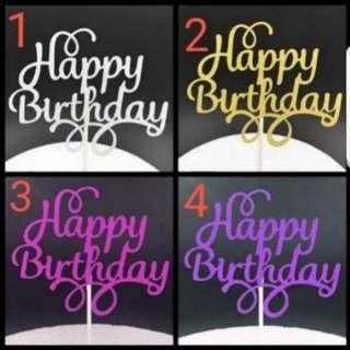 (Buy 4 get 1 free) Happy Birthday Cake topper