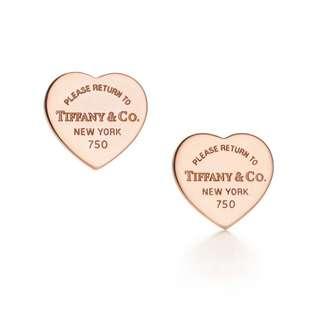 Genuine Return to Tiffany Mini Heart Tag Earrings