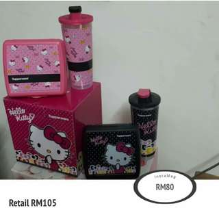 READY STOK Tupperware Hello Kitty Lunch Set