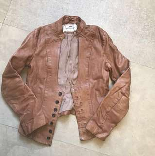 Genuine leather jacket (brand Initial)真皮皮褸