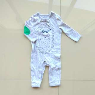 SLEEPSUIT LONG SLEEVE CUTE COTTON ON 3-6 MONTHS
