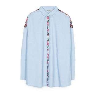 Stradivarius Embroidery Shirt