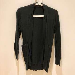 開襟針織外套 黑 #冬季衣櫃出清