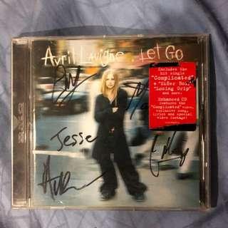 Autographed avril lavigne let go cd