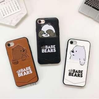熊熊遇見你皮質刺繡手機殼📱