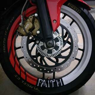 Customize Stickers:- Rim Wrap