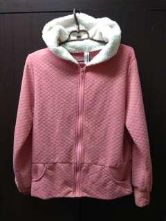 🚚 Revero粉色格紋外套