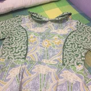 La teLa Green Batik