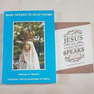Catholic Books- Mary Speaks To Us At Fatima By Dr. Wolfram E. Mantke & Jesus The Living Word Speaks By Archiodiesan Biblical Apostoplate