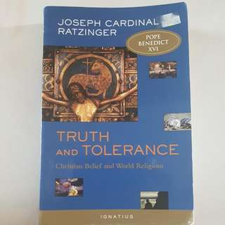 Truth And Tolerance: Christian Belief And World Religions By Pope Benedict XVI(Joseph Cardinal Ratzinger)
