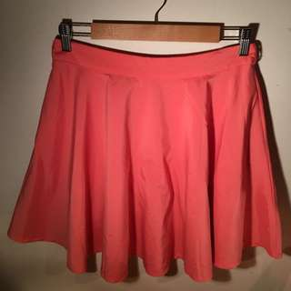 Apricot orange/pink skirt