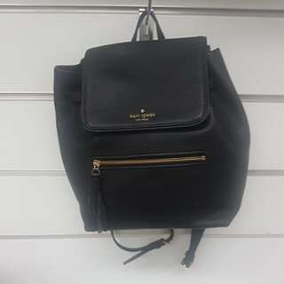 Authentic Kate Spade Chester Street Leather Backpack in Black