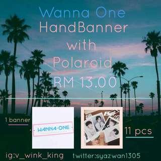 Wanna One Banner and polaroid