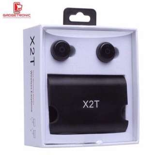 X2T Wireless Bluetooth Headset / Ear buds With PowerBank
