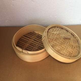 Massive Spring Clean - New bamboo steamer 20cm, H 8cm