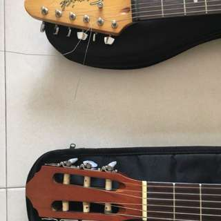 Classical and electric guitar