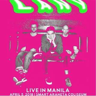 Looking for: LANY Live in Manila Day 2 tickets