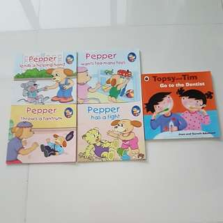 Children story books (Pepper) (Topsy and Tim)