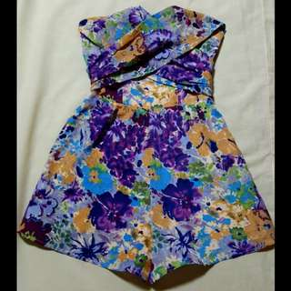 Floral romper/catsuit/playsuit