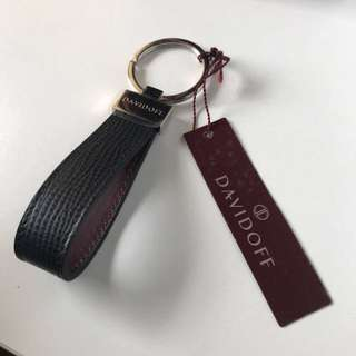 DAVIDOFF leather keychain