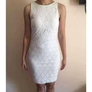 ZARA Lace Dress white - S