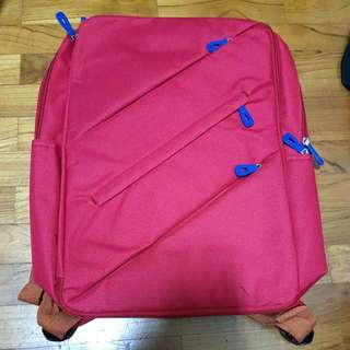 Red School Bag / harversack backpack