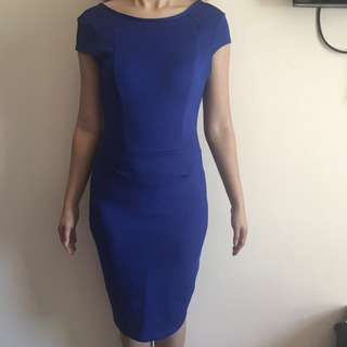 Bodycon Dress Blue - Dorothy Perkins - fit to M