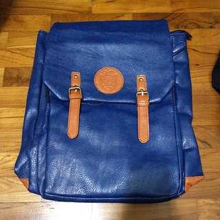 Blue backpack / school bag / harversack