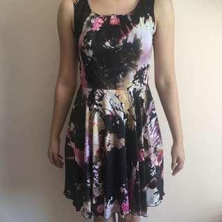 Satin Dress printed - size S