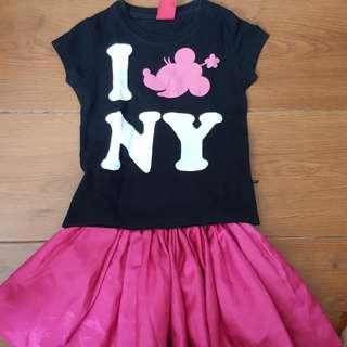 tommy girl shirt + fuschia pink tutu skirt