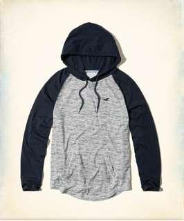 小麥代購全新M號Hollister hco海鷗 年輕休閒灰色帽T