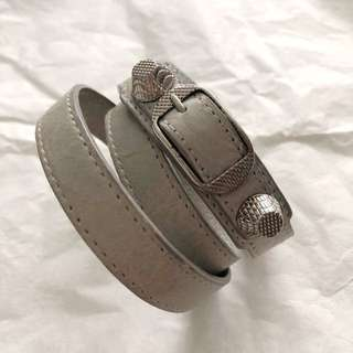 Balenciaga triple tour leather bracelet