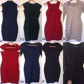 NEW Bandage Dresses RRP $100-$250
