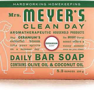 Mrs. Meyers Bar Soap Geranium 5.3 OZ