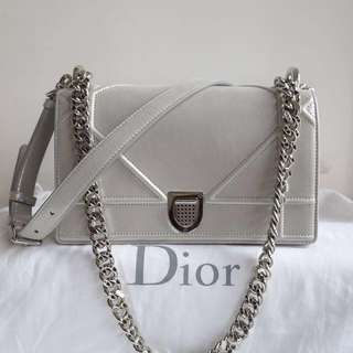 全新Dior Small Diorama Bag in Silver 20cm