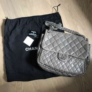 Chanel chain shoulder flap bag 大鐵鏈上膊袋