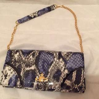 Vivienne Westwood  蛇皮 銀色 小手袋 只用過一次