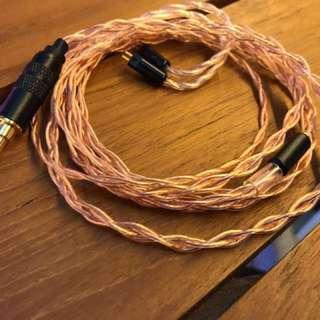全新Litz Copper德國單晶銅mmcx/cm/ie耳機升級線