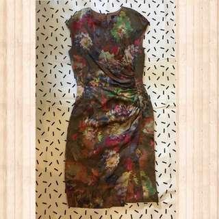Etro Floral Silk Dress Size 42