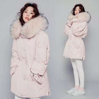 Nude Light Pink Winter Coat Jacket