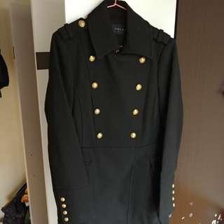 Zara 女裝黑色雙排鈕型格長褸(99%新) 已乾洗