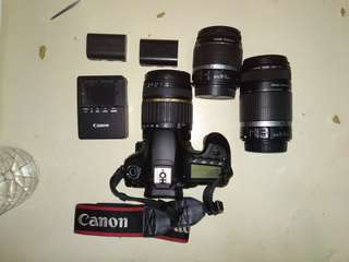 Pre-loved Canon EOS 60D with 3 lenses