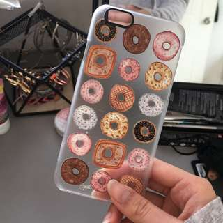 Casetify IPhone 6/6s/7 donut transparent case cover