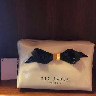 Ted Baker Cream Black Ribbon large 化妝袋