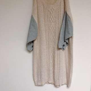 E-WEAR懶人拼接針織裙